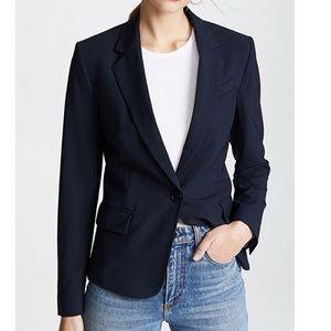 THEORY Gabe B 2 Navy Classic Wool Blazer Jacket